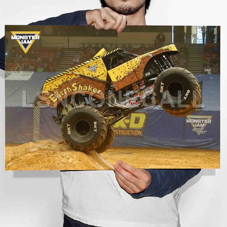 Earthshaker Monster Trucks Poster Print Art Wall Decor Lsnconecall