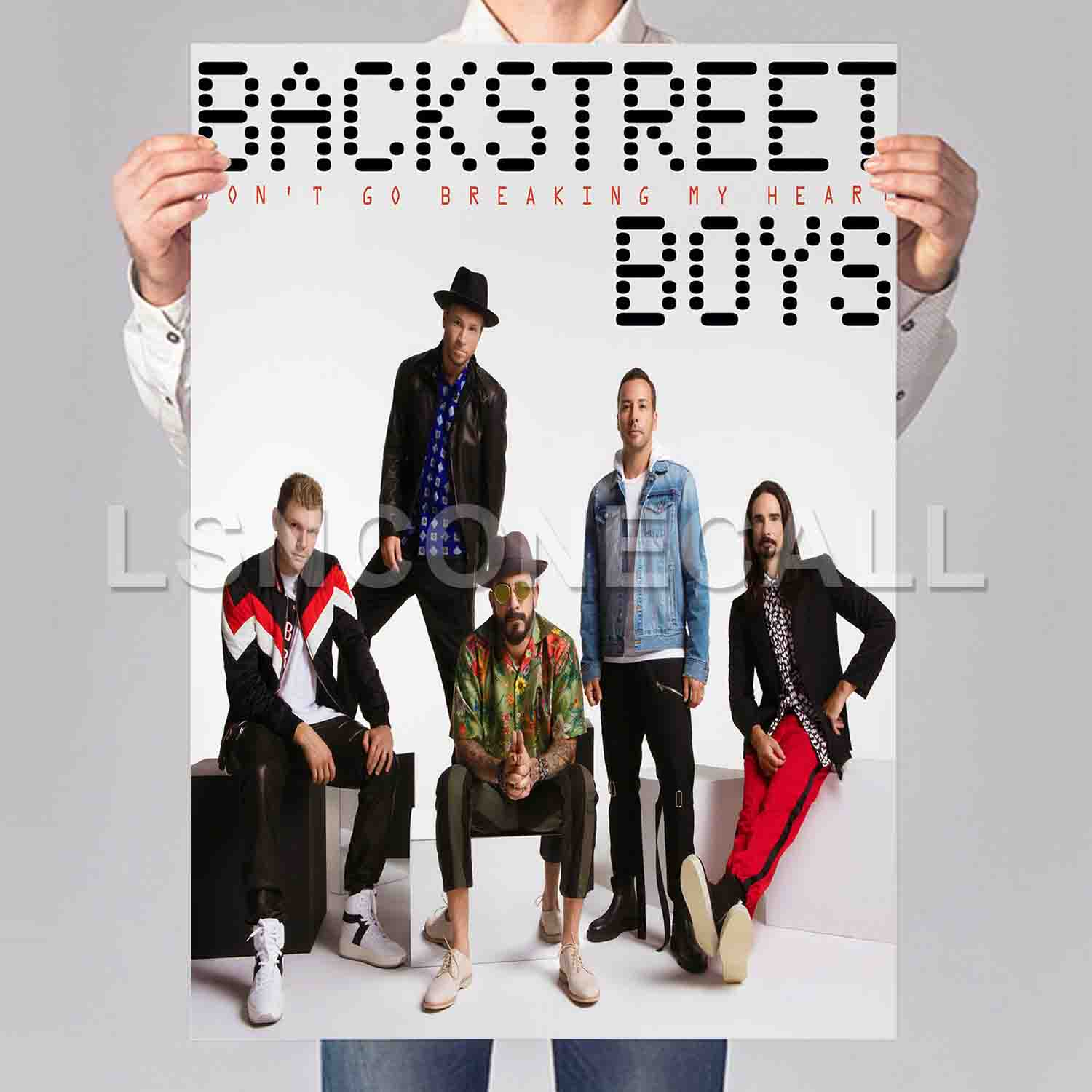 Backstreet Boys Don't Go Breaking My Heart Poster Print