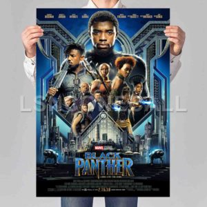 Black Panther Marvel Poster Print Art Wall Decor