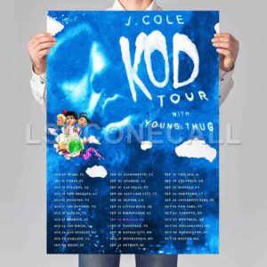 J Cole KOD Tour Poster Print Art Wall Decor