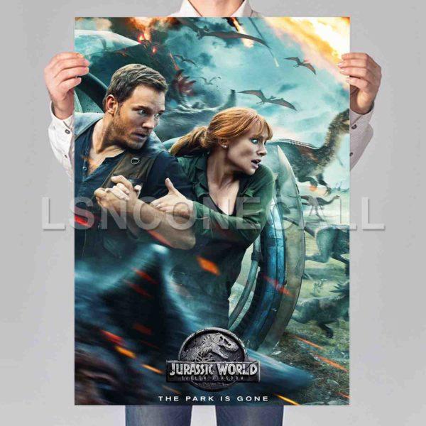 Jurassic World Fallen Kingdom Poster Print Art Wall Decor