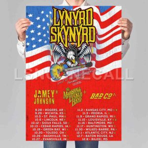 Lynyrd Skynyrd Last of the Street Survivors Farewell Tour Poster Print Art Wall Decor