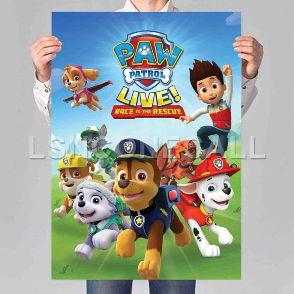 PAW Patrol Live! Race to the Rescue Poster Print Art Wall Decor