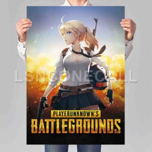 PUBG Anime Poster Print Art Wall Decor
