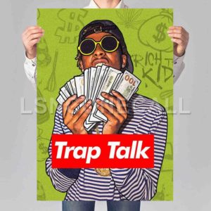 Rich The Kid Trap Talk Poster Print Art Wall Decor