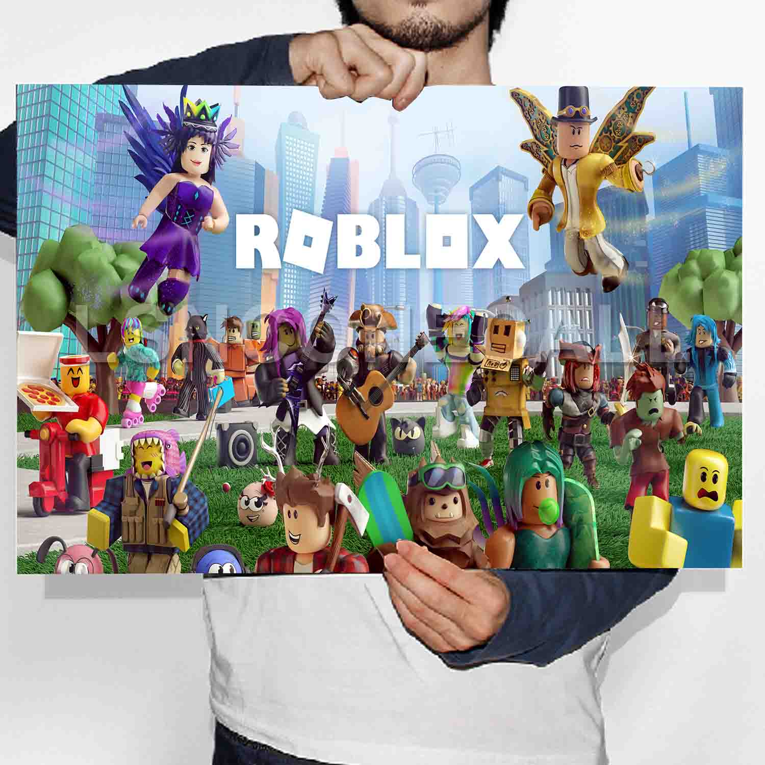 Roblox Poster Print Art Wall Decor - roblox how to go through walls 2019
