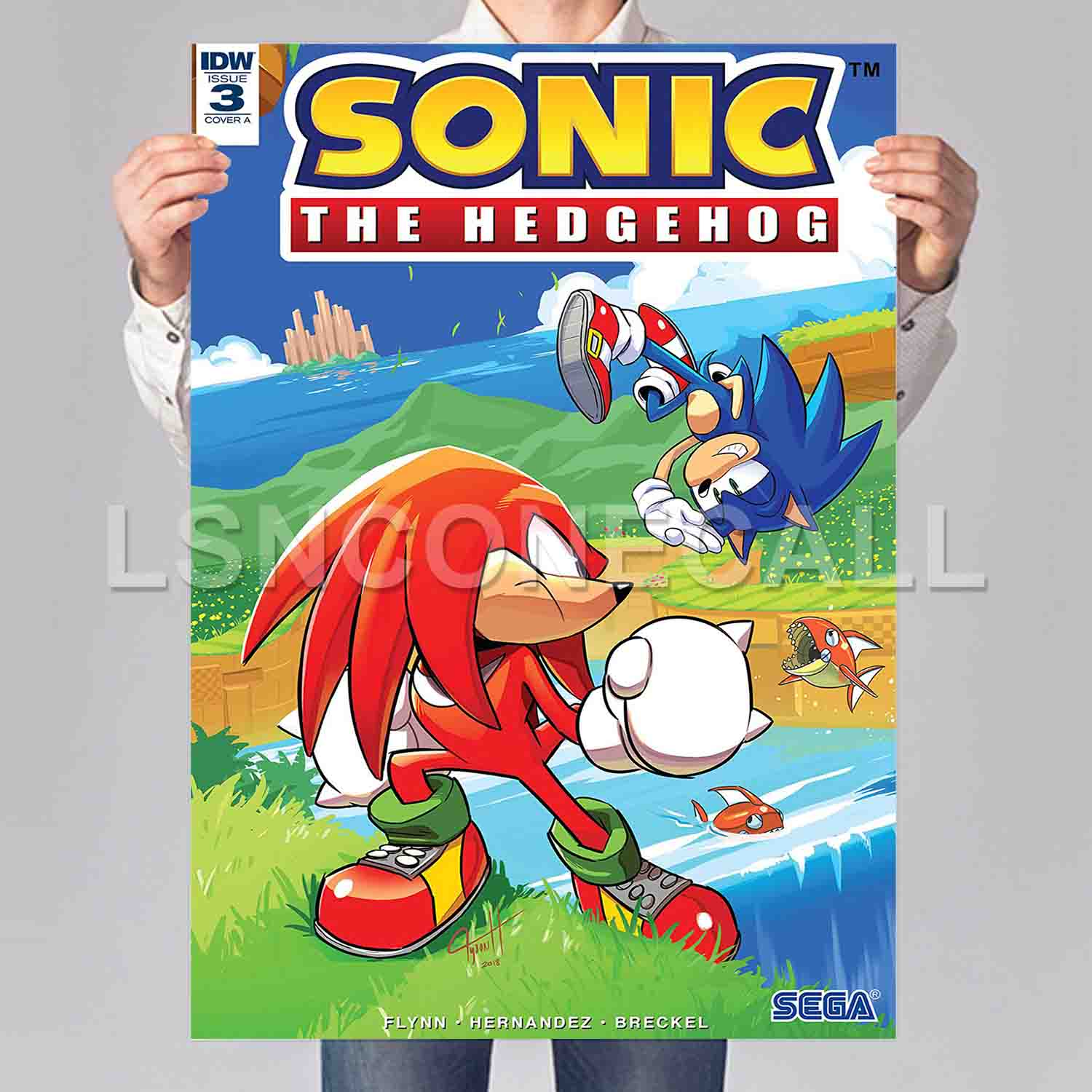 Sonic The Hedgehog Poster Print Art Wall Decor Replacement