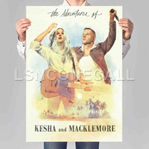 The Adventures of Kesha and Macklemore Poster Print Art Wall Decor