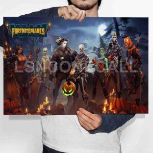 The Fortnite Battle Royale Fortnitemares Halloween Poster Print Art Wall Decor