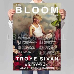 Troye Sivan The Bloom Tour Poster Print Art Wall Decor