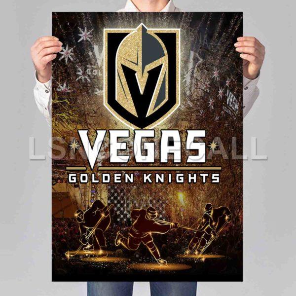 Vegas Golden Knights Poster Print Art Wall Decor