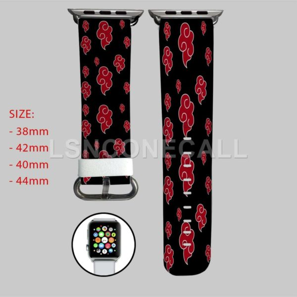 Akatkusi Naruto Shippuden Apple Watch Band