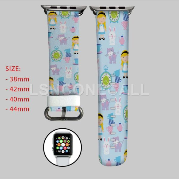 Alice in Wonderland Characters Disney Apple Watch Band