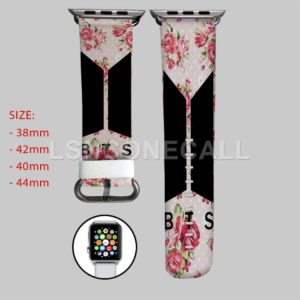 BTS Pink Flowers Apple Watch Band