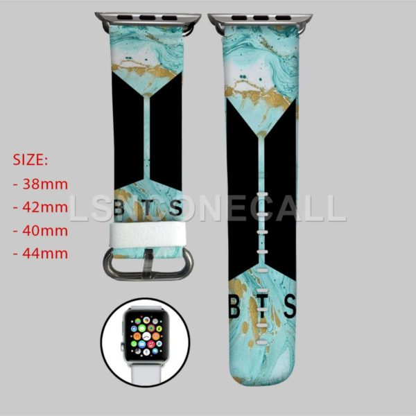BTS Turquoise Marble Apple Watch Band