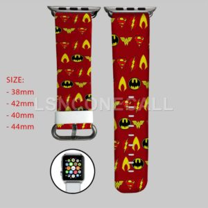 Batman Superman The Flash Aquaman Wonder Woman Apple Watch Band