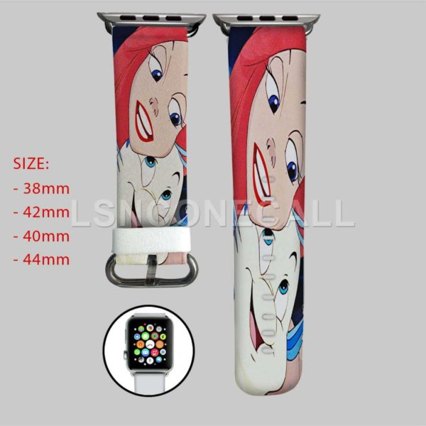 Disney Ariel and Flounder The Little Mermaid Apple Watch Band