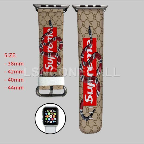 Gucci Snake Supreme Apple Watch Band