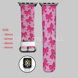 Minnie Mouse Polka Dots Ribbon Apple Watch Band