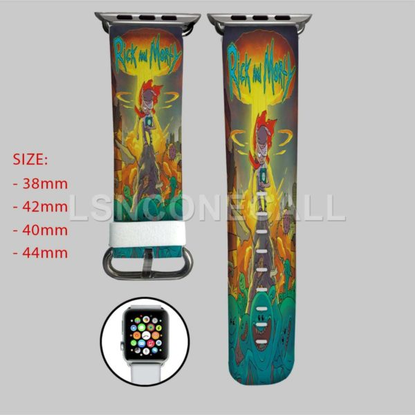 Rick and Morty and Mr Meeseeks Apple Watch Band