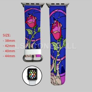 Rose Beauty and The Beast Disney Apple Watch Band