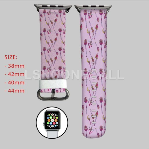 Sailor Moon Pink Pattern Apple Watch Band