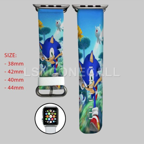 Sonic the Hedgehog Running Apple Watch Band