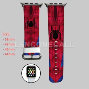 Spiderman With New Logo Civil War Apple Watch Band