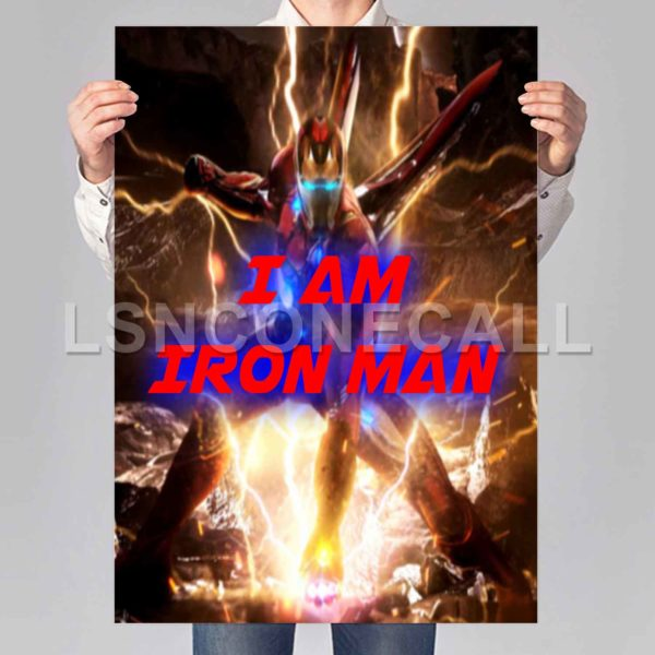 I am Iron Man Poster Print Art Wall Decor