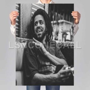 J Cole Black White Poster Print Art Wall Decor