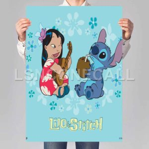 Lilo and Stitch Cute Poster Print Art Wall Decor