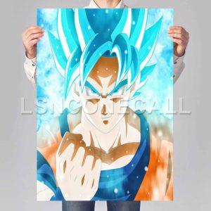 goku super saiyan blue Poster Print Art Wall Decor