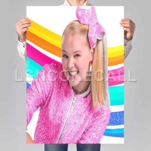 jojo siwa colorful Poster Print Art Wall Decor
