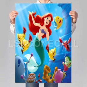 little mermaid and friends Poster Print Art Wall Decor