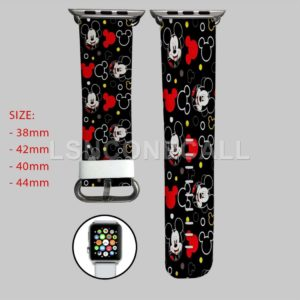 Black Mickey Mouse Apple Watch Band