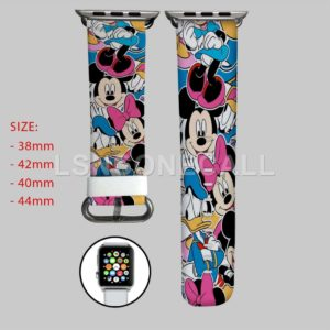 Mickey and Minnie Mouse Apple Watch Band