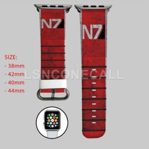 N7 Mass Effect Apple Watch Band