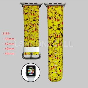 Pikachu Pokemon Pattern Apple Watch Band
