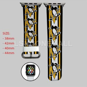 Pittsburgh Penguins NHL Apple Watch Band