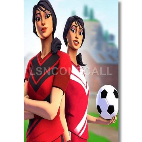 Cool Fortnite Soccer Skin Backgrounds Sweaty Soccer Skin Wallpaper Fortnite Custom Poster Print Wall Decor